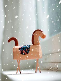 Tiny horse art doll by behappynow on Etsy,