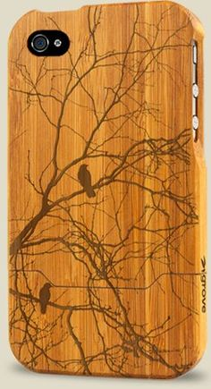 Two Birds (Bamboo iPhone Case)