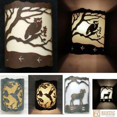 Nature Scene and Animal Wall Sconce Lights. #nature #rustic #light