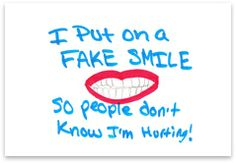 I Put On a Fake Smile...post card from foster care alumni--love their work. beth