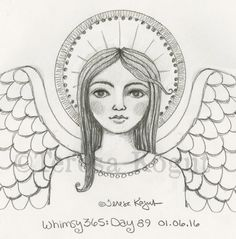 whimsy 365 day 89 010616 Doodle Illustration, Folk Art, Whimsical Art Journal, Drawings, Whimsy, Painting Patterns, Christian Art, Angel Art, Angel Painting