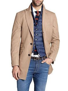 Brunello Cucinelli Water Repellent Cotton-Silk  Topcoat
