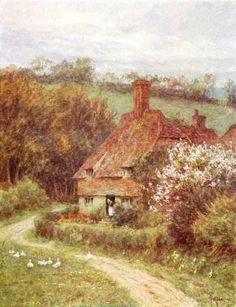 Under Hindhead Surrey ~ Helen Allingham ~ (English 1848-1926)