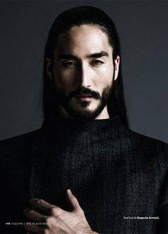 Tony Thornburg is an American model of Japanese and Swedish heritage. He's a regular face of brands such as Giorgio Armani… Tony Thornburg, Pretty People, Beautiful People, Model Tips, Inspiration Artistique, Interesting Faces, Male Face, Madame, Beard Styles