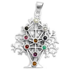 Tree of Life (Kabbalah) Pendant (Sterling Silver) - Trees & Tree ...