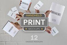 Handheld Print Mockups  @creativework247