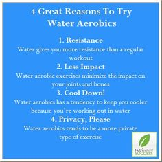 4 Great Reasons To Try Water Aerobics #Nutrisystem #Exercise