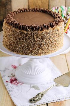 German Chocolate, Chocolate Cake, Birthday Cake, Birthday Parties, Polish Recipes, Chocolate Recipes, Sprinkles, Tea Party, Food And Drink