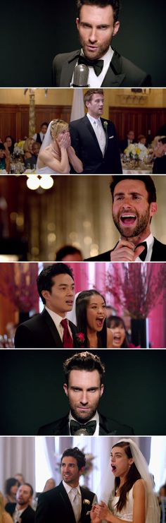 "#Maroon5 crash real weddings in their new video for the ridiculously catchy jam #Sugar and it's wonderful! :-) ""We're going to drive across L.A. and hit every wedding we possibly can."" Tooo cool #AdamLevine"
