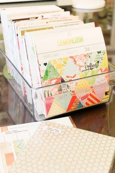 Sprinkled With Glitter: Patterned Paper Organization --- Craft Room Organization