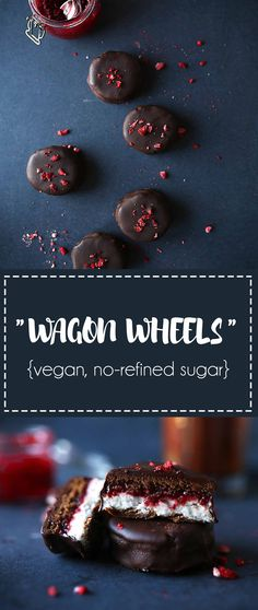Vegan Wagon Wheels with Chia Jam