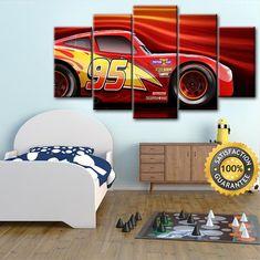 Cars 3 Disney Cars canvas Cars 3 poster Lightning Mcqueen