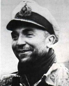 "Gunther Prien - successful German U-boat commander, one of the three top U-boat ""aces,"" having sunk the most tonnage of allied shipping."