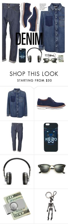 """""""All Denim, Head to Toe"""" by italist ❤ liked on Polyvore featuring Valentino, Timberland, Scotch & Soda, Kenzo, Master & Dynamic, Ray-Ban, American Coin Treasures, Alexander McQueen, Whiteley and men's fashion"""