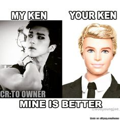 That was my old Ken...I love my new Ken waaaayyy more. He's MINE!!! <3