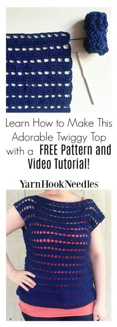 Crochet Blusas Learn How to Crochet This Cotton Summer Top! It's So Easy and Includes a Video Tutorial! - YHN - - Have you ever wanted to create crochet garment pieces but are afraid to try? Check out this crochet tunic pattern with a free video tutorial! Crochet Tunic Pattern, Crochet Shirt, Easy Crochet Patterns, Cotton Crochet, Knit Crochet, Tutorial Crochet, Crochet Edgings, Crochet Motif, Top Pattern