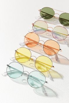 Rounded Aviator Sunglasses | Urban Outfitters