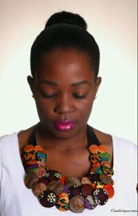 How To Make A Bib Necklace Using Ankara Fabric Buttons - Fashion - Nigeria