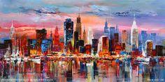 Resultado de imagen de schilderijen van skyline amsterdam en haven