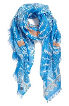 Beautiful Tory Burch Madura scarf on sale at Nordstrom