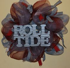 Alabama Deco Mesh Wreath by DarlingPeaches on Etsy, $75.00