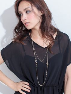Yevs 2連ビジュー使いネックレス / double strands necklace on ShopStyle