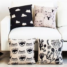 Wholesale 18x18 Simple geometric Pillow Decorative Pillowcase Nordic cartoon Throw Pillows animal Home Pillow Decoration Custom-in Cushion from Home, Kitchen & Garden on Aliexpress.com | Alibaba Group