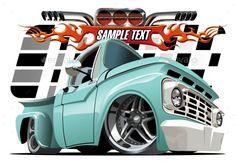 Buy Cartoon Lowrider by Mechanik on GraphicRiver. Lowrider, Chevy Trucks, Pickup Trucks, Carros Retro, Cool Car Drawings, Car Vector, Vector Art, Truck Art, Car Illustration