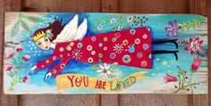 Do Angel Policies Really Have Wings? http://alisasteadyart.blogspot.com/2012/10/so-do-angel-polices-really-have-wings.html  Artwork: You Are Loved Angel Modern Folk  by evesjulia12 on Etsy