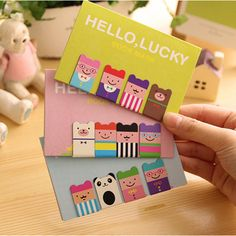 1 Sets of 4 Cartoon DIY Cute Cartoon Luckboy Metal Magnetic Bookmarks for Book Gift Office Materials School Supplies #Affiliate