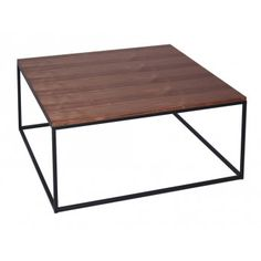 Buy Walnut and Black Metal Square Coffee Table from Fusion Living