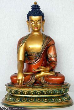Statue Bouddha en couleurs