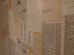 Book wallpaper. Such an awesome idea. Brandon & I are going to do this with sheet music for an accent wall in his music room.