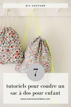 7 tutoriels pour coudre un sac à dos pour enfant / diy couture enfant / kids bagpack sewing patterns