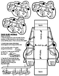Dog Sled Mobile, how a dog sled works. this would be nice for my packaging. Yukon Quest, 3rd Grade Reading, Reading School, Dog Activities, History Activities, Stone Fox, Arctic Animals, Dog Crafts, School Projects
