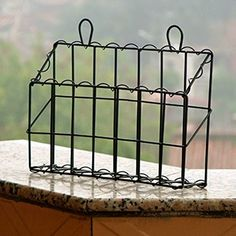 Antique Black Wall Mounted Antique Black Iron Mail Magazine Rack Utility Organizer from my deeAuvil blog