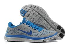 Mens Nike Free 3.0 V4 Wolf Grey Game Royal Wolf Grey Shoes
