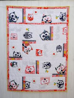 A Family Of Owls Applique Quilt  PDF Pattern by claireturpindesign, $22.00