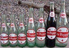 Old Dr. Pepper Bottles