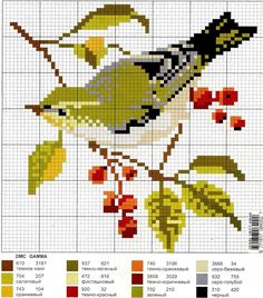 Bird hama perler beads pattern