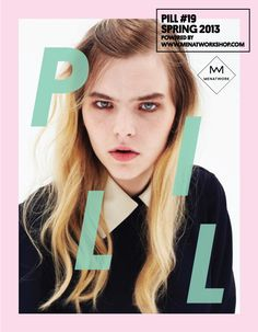 Cover PILL Magazine. Graphic design by Inge Rylant.