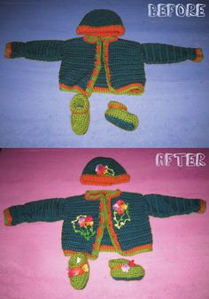 Added Flowers to Sweater To Make It For Her.