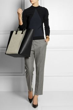 Victoria Beckham | I love this look -- especially the sweater and bag. Okay, I like the whole outfit!