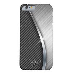 Carbon Fiber & Brushed Metal 4 Case iPhone 6 Case