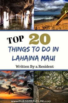 Lahaina is located on West Maui and is a beautiful, charming Hawaiian town that will make you want to cancel your flight and never return home. Here is a list of the top 20 things to do in Lahaina written by who has been living here for 10 years. Hawaii Surf, Hawaii Vacation, Hawaii Travel, Travel Usa, Travel Tips, Travel Ideas, Maui Honeymoon, Hawaii Life, Travel Abroad