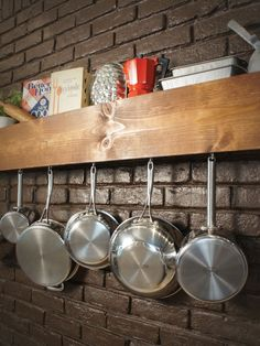Todays Nest at HGTV: DIY Kitchen Shelf and Pot Rack from @Sam McHardy McHardy Henderson
