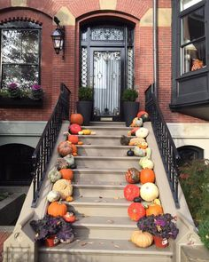 Autumn on Beacon Hill. Times have changed. Growing up we had one badly-carved orange jack-o-lantern on the front steps. It stayed there until it froze or rotted - whichever came first - and had to be...