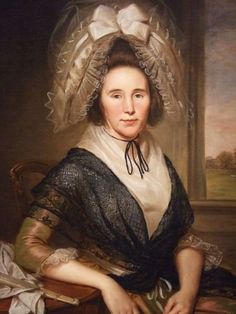 1790 portrait of Rachel Leeds Kerr by Charles Willson Peale. Why is it the most drably-dressed women in this period had the most ridiculously silly caps?