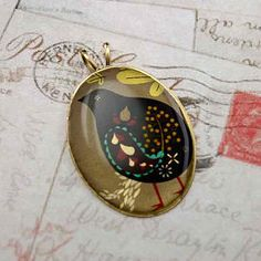 SALE  Altered Art Photo Pendant  PARTRIDGE in a Pear by urbanrose, $7.99