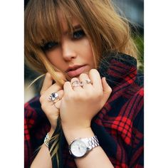 PLAID ON Q&A WITH KRISTINA, SEND US YOUR QUESTIONS! ❤ liked on Polyvore featuring models, people, hair, kayture and faces